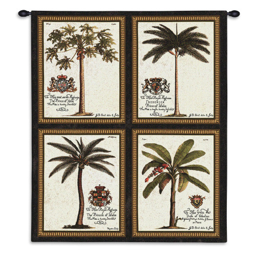 Pure Country Weavers - Royal Palm Hand Finished European Style Jacquard Woven Wall Tapestry. USA Size 34x26 Wall Tapestry