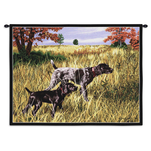 Pure Country Weavers - Now We Wait Hand Finished European Style Jacquard Woven Wall Tapestry. USA Size 26x34 Wall Tapestry