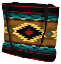 Anatolia Hand Finished Large Woven Tote Bag Made in the USA by Artisan Textile Mill Pure Country Weavers Tote Bag