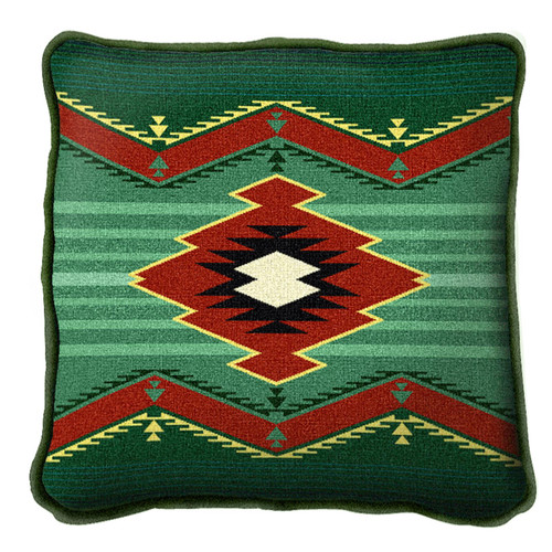 Turak Hand finished Woven Pillow by Pure Country Weavers.  Made in the USA.  Size 17 x 10 Woven to Last a Lifetime Pillow