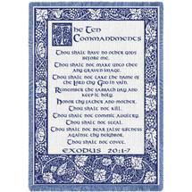 Ten Commandments Natural Blanket Natural