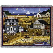 Salty Witch Bay by Charles Wysocki Tapestry Throw