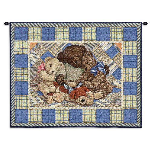 Pure Country Weavers - Bear Hugs Hand Finished European Style Jacquard Woven Wall Tapestry. USA Size 25x31 Wall Tapestry