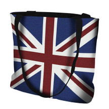 Union Jack British Flag Hand Finished Large Woven Tote or Shoulder Bag with Magnetic Clasp 100% Cotton Double Sided Made in USA by Artisan Textile Mill Pure Country Weavers Tote Bag