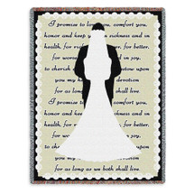 Pure Country Weavers - I Do Wedding Present Gift Cotton USA 72x54 Tapestry Throw