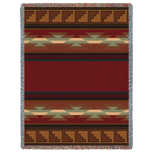 Pure Country Weavers - Pasqual Southwest Blanket | Woven Tapestry Camp Throw with Fringe Cotton USA 72x54 Tapestry Throw