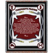 Fire Department - Fireman's Prayer Tapestry Throw