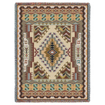 Pure Country Weavers - Painted Hills Sand Southwest Blanket   Woven Tapestry Camp Throw with Fringe Cotton USA 72x54 Tapestry Throw