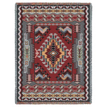 Pure Country Weavers - Painted Hills Sunset Southwest Blanket   Woven Tapestry Camp Throw with Fringe Cotton USA 72x54 Tapestry Throw