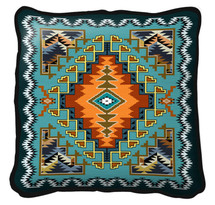 Painted Hills Sky Hand finished Woven Pillow by Pure Country Weavers.  Made in the USA.  Size 17 x 17 Woven to Last a Lifetime Pillow