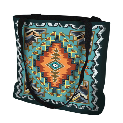 Painted Hills Sky Hand Finished Large Woven Tote or Shoulder Bag with Magnetic Clasp 100% Cotton Double Sided Made in USA by Artisan Textile Mill Pure Country Weavers Tote Bag