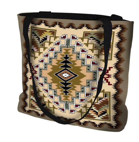 Painted Hills Sand Hand Finished Large Woven Tote or Shoulder Bag with Magnetic Clasp 100% Cotton Double Sided Made in USA by Artisan Textile Mill Pure Country Weavers Tote Bag