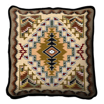 Painted Hills Sand Hand finished Woven Pillow by Pure Country Weavers.  Made in the USA.  Size 17 x 10 Woven to Last a Lifetime Pillow