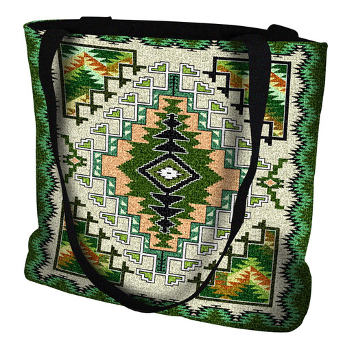 Painted Hills Sage Hand Finished Large Woven Tote Bag Made in the USA by Artisan Textile Mill Pure Country Weavers Tote Bag