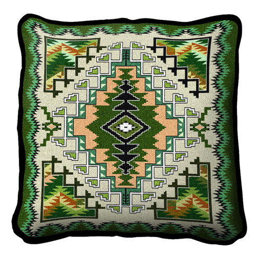 Painted Hills Sage Hand Finished single sided Woven Pillow Cover.  100% Cotton Made in the USA.  Size 17 x 10 Woven to Last a Lifetime Pillow