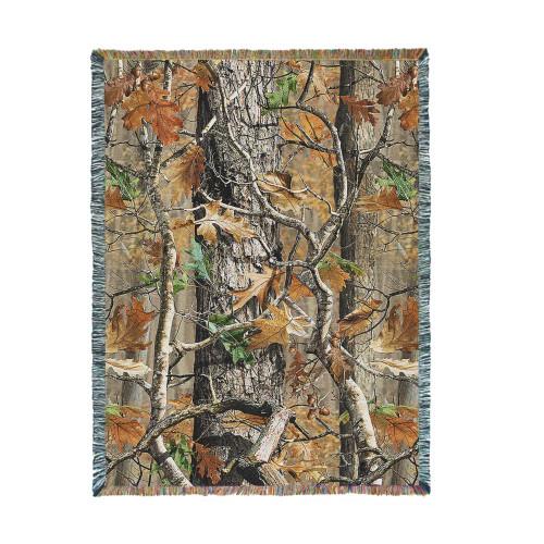 Oak Woods Camo Tapestry Throw
