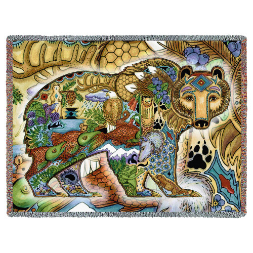 Grizzly Bear - Animal Spirits Totem - Tapestry Throw