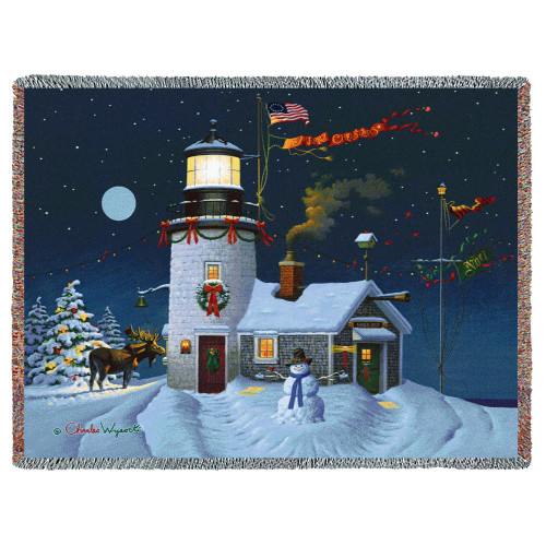 Take Out Window - Charles Wysocki - Cotton Woven Blanket Throw - Made in the USA (72x54) Tapestry Throw