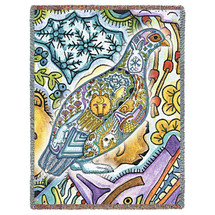 Ptarmigan - Animal Spirits Totem - Sue Coccia - Cotton Woven Blanket Throw - Made in the USA (72x54) Tapestry Throw