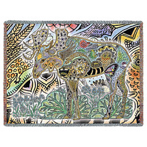 Moose - Animal Spirits Totem - Sue Coccia - Cotton Woven Blanket Throw - Made in the USA (72x54) Tapestry Throw