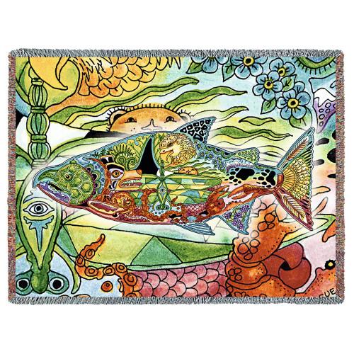 Chinook Salmon Tapestry Throw