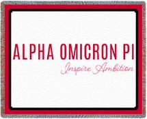 Alpha Omicron Pi Blanket