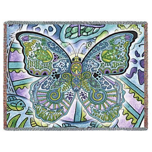 Blue Morpho Tapestry Throw