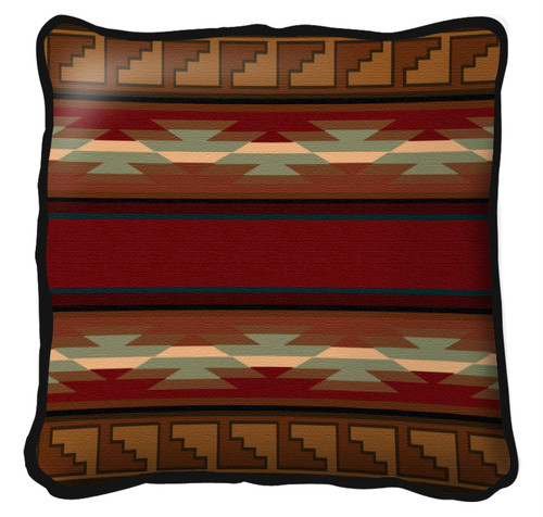 Pasqual Hand Finished single sided Woven Pillow Cover.  100% Cotton Made in the USA.  Size 17 x 17 Woven to Last a Lifetime Pillow