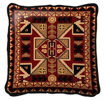 Paraguay Hand Finished single sided Woven Pillow Cover.  100% Cotton Made in the USA.  Size  Large17 x 17 Woven to Last a Lifetime Pillow