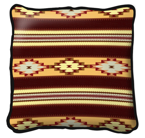 Arroyo Gold Hand Finished single sided Woven Pillow Cover.  100% Cotton Made in the USA.  Size  Large17 x 17 Woven to Last a Lifetime Pillow