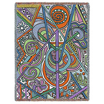 Cathedral - Helen Kiebzak - Cotton Woven Blanket Throw - Made in the USA (72x54) Tapestry Throw
