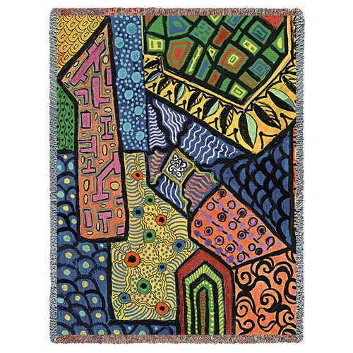 Overview by Helen Kiebzak Tapestry Throw