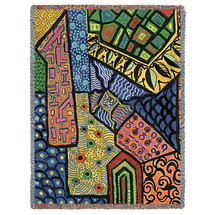 Overview - Helen Kiebzak - Cotton Woven Blanket Throw - Made in the USA (72x54) Tapestry Throw