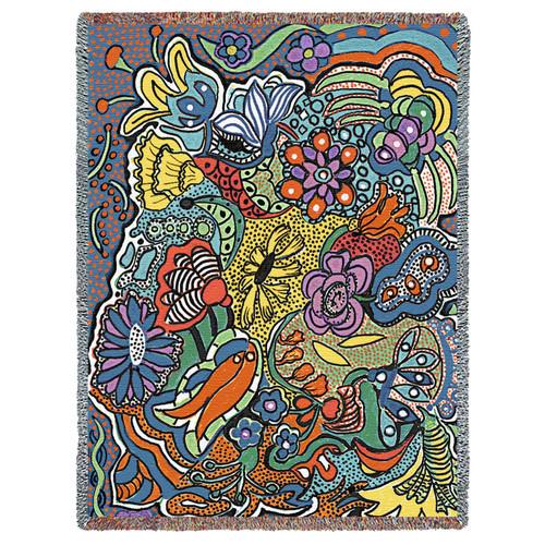 Potpourri by Helen Kiebzak Tapestry Throw