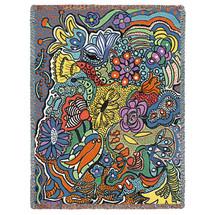 Potpourri - Helen Kiebzak - Cotton Woven Blanket Throw - Made in the USA (72x54) Tapestry Throw