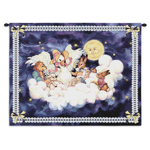 Pure Country Weavers | Mother Goose Hand Finished European Style Jacquard Woven Wall Tapestry. USA 26X33 Wall Tapestry