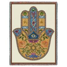 Hand of Hamsa Tapestry Throw