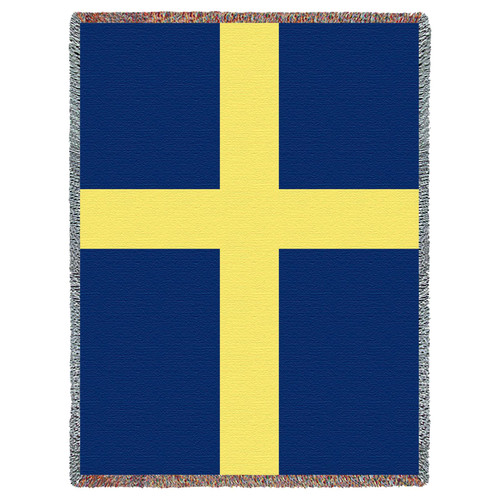 Pure Country Weavers | Flag of Sweden Swedish Tapestry Throw Blanket Cotton USA 72x54 Cotton Tapestry Throw