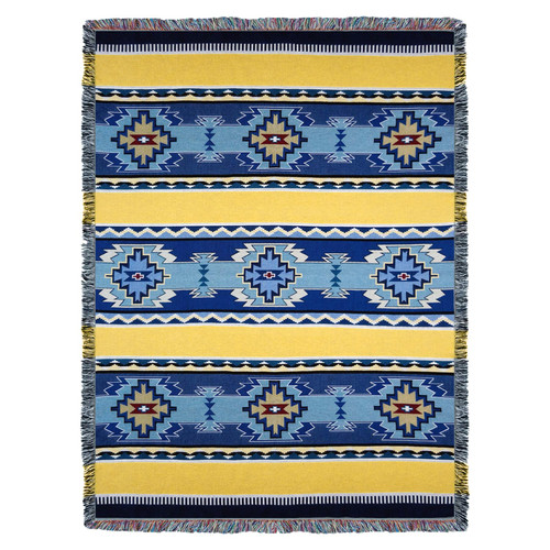Pure Country Weavers - Rimrock Sun Southwest Blanket | Woven Tapestry Camp Throw with Fringe Cotton USA 72x54 Tapestry Throw