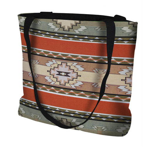 Rimrock Hand Finished Large Woven Tote Bag Cotton USA by Artisan Textile Mill Pure Country Weavers Tote Bag
