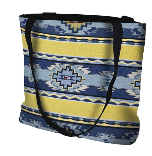 Rimrock Sun Hand Finished Large Woven Tote or Shoulder Bag with Magnetic Clasp 100% Cotton Double Sided Made in USA by Artisan Textile Mill Pure Country Weavers Tote Bag