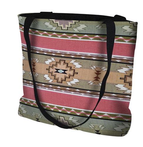 Rimrock Dusk Hand Finished Large Woven Tote or Shoulder Bag with Magnetic Clasp 100% Cotton Double Sided Made in USA by Artisan Textile Mill Pure Country Weavers Tote Bag
