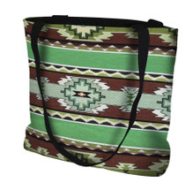 Rimrock Spring Hand Finished Large Woven Tote or Shoulder Bag with Magnetic Clasp 100% Cotton Double Sided Made in USA by Artisan Textile Mill Pure Country Weavers Tote Bag