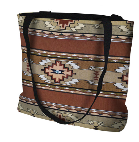 Rimrock Sandstone Hand Finished Large Woven Tote Bag Made in the USA by Artisan Textile Mill Pure Country Weavers Tote Bag