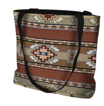Rimrock Sandstone Hand Finished Large Woven Tote or Shoulder Bag with Magnetic Clasp 100% Cotton Double Sided Made in USA by Artisan Textile Mill Pure Country Weavers Tote Bag