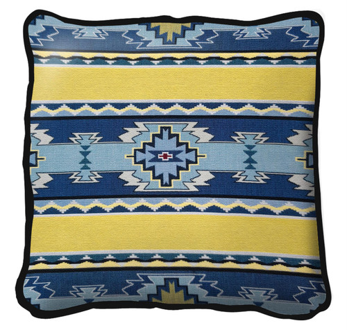 Rimrock Sun Hand Finished single sided Woven Pillow Cover.  100% Cotton Made in the USA.  Size 17 x 17 Woven to Last a Lifetime Pillow
