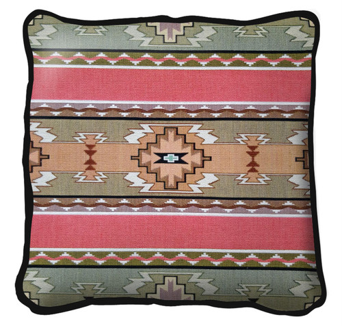 Rimrock Dusk Textured Hand Finished Elegant Woven Throw Pillow Cover 100% Cotton Made in the USA Size 17x17 Pillow