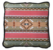 Rimrock Dusk Hand finished Woven Pillow by Pure Country Weavers.  Made in the USA.  Size 17 x 17 Woven to Last a Lifetime Pillow