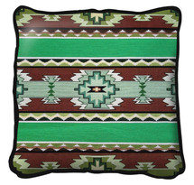 Rimrock Spring Hand finished Woven Pillow by Pure Country Weavers.  Made in the USA.  Size 17 x 17 Woven to Last a Lifetime Pillow