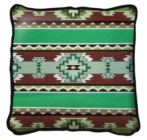 Rimrock Spring Hand Finished single sided Woven Pillow Cover.  100% Cotton Made in the USA.  Size 17 x 17 Woven to Last a Lifetime Pillow